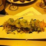 Tempura di gamberi al wasabi