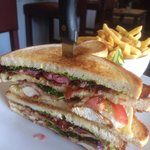 That's the Club Sandwich off the lunch menu - tasty!