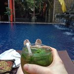 Mojito time by the pool
