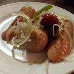 Ahogado picante, salchica maceada pimiento y cebolla