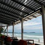 המסעדה של המלון עם הנוף לים