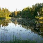 Lago en medio de la hacienda.
