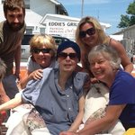 My sister Mary Anne with sibling Patricia, me and my niece and nephew.