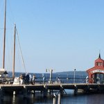 Watkins Glen Harbor, Schooner docked