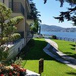 Outside Villa Gilda - lakeside promenade