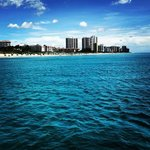 The best view of the Palm Beaches is from Mariah's foredeck!