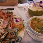 seafood basket 450B. coconut shake