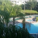 View from balcony of shared pool