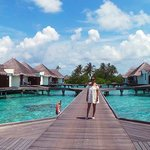 Walkway to the water bungalows.