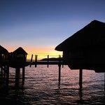 un tramonto dal pontile