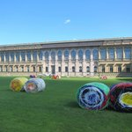 """Alte Pinakothek (""""Bale Harvest"""" by Michael Beutler in the foreground)"""