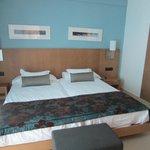 main bedroom ( 2 huge single beds pushed together!)