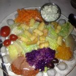Lovely salad presentation!