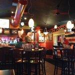 Inside the bar area . . .