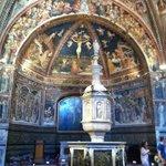 Interno del Battistero di Siena