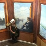 Stairwell mural: an example of the creative touches around Kinlay House Galway