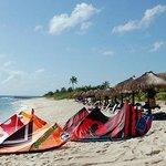 Blue Venado...Comiendo y haciendo kitesurf en el Paraiso