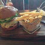 200g Beef and Cheese Burger and Chips