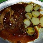 Filetto con patate, ottimo è una porzione piccola,voluta da me...