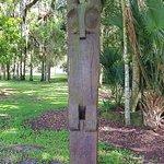 Timucua Owl Totem Pole Statue Hontoon Island