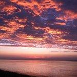 Lake Michigan sunset from the campground's beach