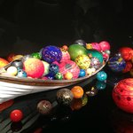 Boat filled with glass floats in the Exhitbition Hall