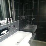 Modern, updated bathroom