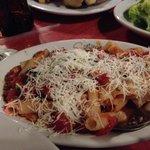 Gluten-free Italian Ziti Pasta with Marinara and fresh Parmesan cheese