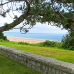 View of Omaha Beach from the cemetery