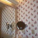 Wallpaper in the bathroom