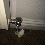 Broken radiator control.