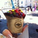 Yummy sunday café nutella smarties