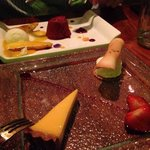 Desert- passion Fruit tart and summer berry with ice cream