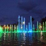 Evening water/light show