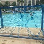 siatka do gier w basenie