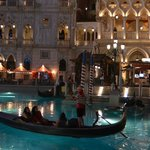 The Venetian canals & gondolas look so pretty at night.