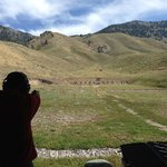 The view of the range!