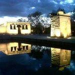 Atardecer en el Templo de Debod, Madrid