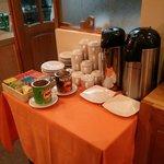 complimentary breakfast spread