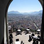 Depuis le fort : Grenoble
