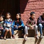 les enfants népalais...