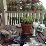 Eating on the patio