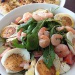 Insalata al Fiume - Salat mit Krabben, Ei, Schinken, Käse