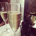 Champagne in the parlor
