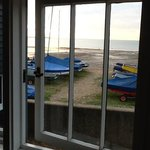 the view from the main bedroom hut 9