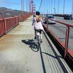 Biking across the Golden Gate Bridge