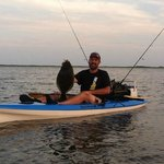 Request a sit on top kayak and try your luck at kayak fishing