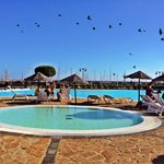 La maravillosa piscina de marina rubicon muuuuy buena!🏊