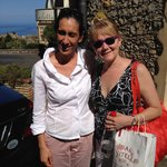 Tricia with Stephanie, Best Tour Guide Ever!!!
