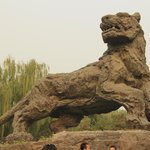 Stone sculpture of tiger